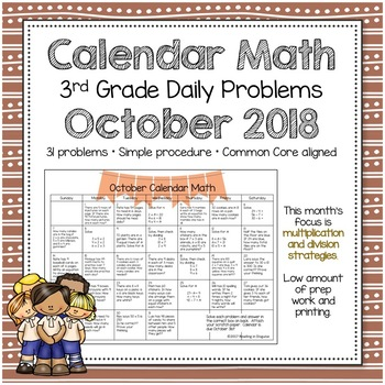 3rd grade Math Problem of the Day: October