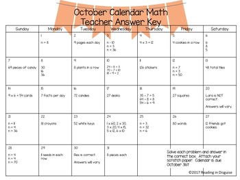 Problem of the Day: October