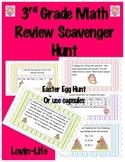 3rd grade Math Test Prep Scavenger Hunt