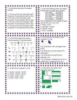 3rd grade Math STAAR Review Category 1 Bingo