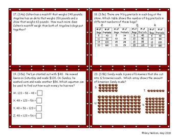 3rd grade Math STAAR Review Category 2: Bingo or Matching