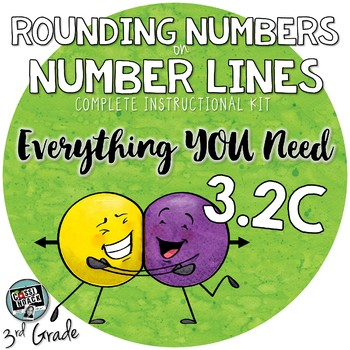 3rd grade Math TEKS 3.2C Using number lines to round numbers
