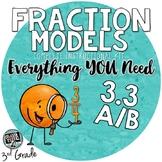 3rd grade Math TEKS 3.3A TEKS 3.3B Representing Fractions models & number lines