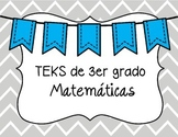 3rd grade Math TEKS in Spanish