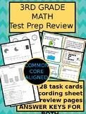 3rd grade Math Test Prep OR End of the Year Review BUNDLE