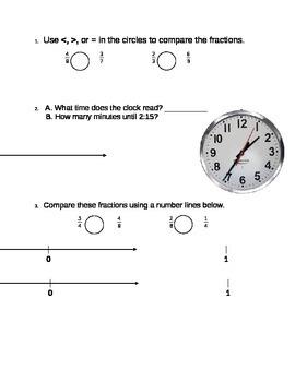 3rd grade Math Warm-up