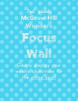 3rd grade McGraw Hill Wonders Focus Wall