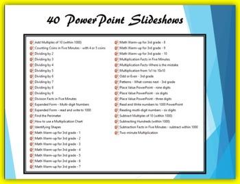 3rd grade Mental Math PowerPoint Bundle