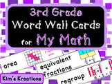 3rd grade My Math (McGraw Hill) Vocabulary Word Wall Cards