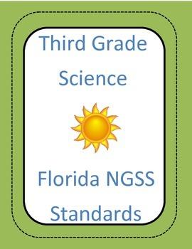 3rd grade NGSSS Science Standards Checklist