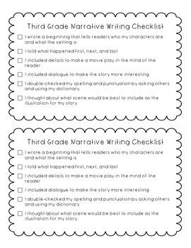 Third Grade Writing Checklists