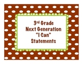 "3rd grade Next Generation Science ""I Can"" Statements"