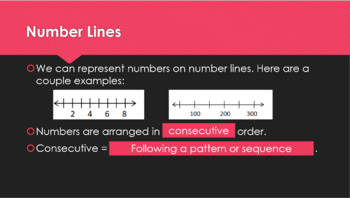 3rd grade Number Lines, Estimation and Rounding Interactive Powerpoint and Notes