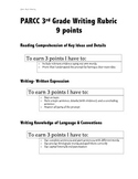3rd grade PARCC writing rubric- student friendly words