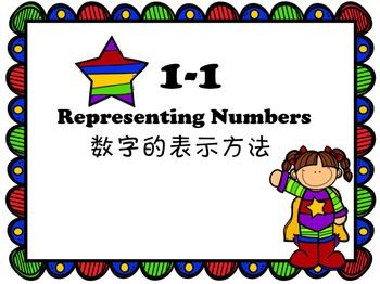 3rd grade Pearson Math 1-1 Representing Numbers in Chinese(简体)