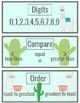 3rd grade Place Value Llama and Cactus Bulletin Board Set