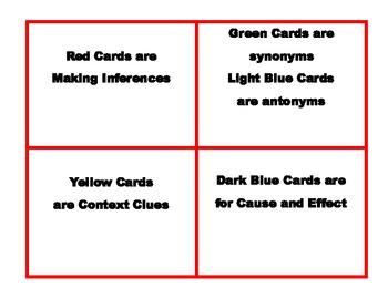 3rd grade Reading Skill Task Cards