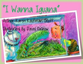 "3rd grade Reading Street Unit 2 Week 2 ""I Wanna Iguana"" Focus Wall"