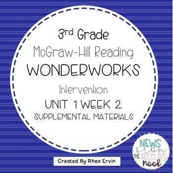 3rd grade Reading WonderWorks Supplement- Unit 1 Week 2