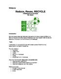 3rd grade Recycling Webquery