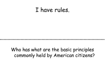 3rd grade Review Government and Famous Americans I Have... Who Has?