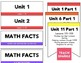 3rd grade Saxon Math Focus Wall objectives