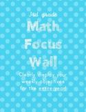 3rd grade Saxon Math Focus Wall objectives