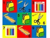 3rd grade- School Supplies Calendar Pattern