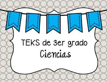 3rd grade Science TEKS in Spanish