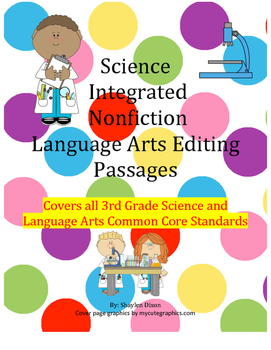 3rd grade Common Core Science Nonfiction Reading and LA Editing passages