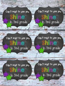"3rd grade ""Shine"" tag"
