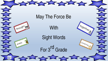 3rd grade Sight Words/Star Wars
