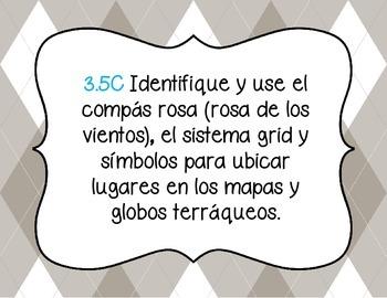 3rd grade Social Studies TEKS in Spanish