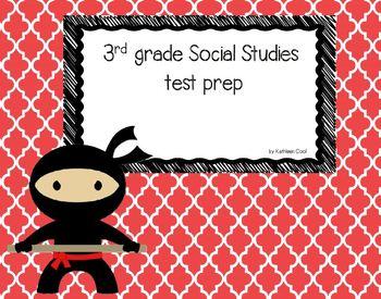 3rd grade Social Studies test prep review PowerPoint game