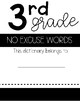 3rd grade Student Dictionary and Word list