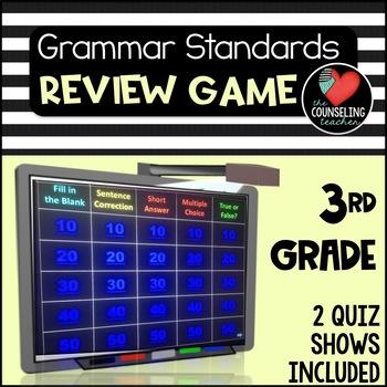 NO PREP Grammar Practice Quiz Show 3rd grade