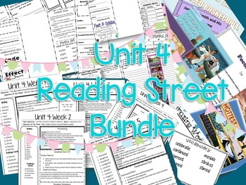 3rd grade Unit 4 Reading Street Bundle: Focus Walls, Study Guides, Brochures
