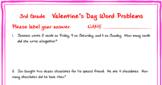 3rd grade Valentine's Day Math Word Problems