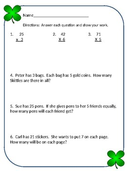multiplication elapsed time division 3rd grade SOL