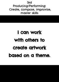 "3rd grade: Visual Art- ""I Can"" Statements"