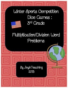 3rd grade: Winter Sports Dice Games: Multiplication Division Word Problems