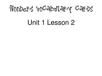 3rd grade Wonders Vocabulary Cards