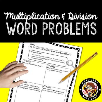 3rd grade Word Problems - Close Reading! 2nd, 3rd, 4th & Homeschool