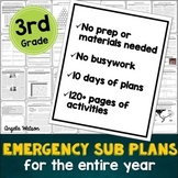 3rd grade emergency sub plans: EVERYTHING you need for 10 days of absences
