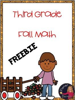 3rd grade fall math center  FREEBIE