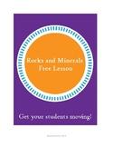 Rocks and Minerals Mini-lesson, and Erosion Preview