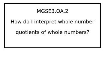 3rd grade math Essential Questions for G.S.E. black-line border