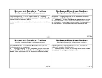 3rd grade math common core cards