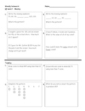 3rd grade math homework Q1 week 1