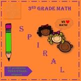 3rd grade math spiral TEKS, STAAR-aligned